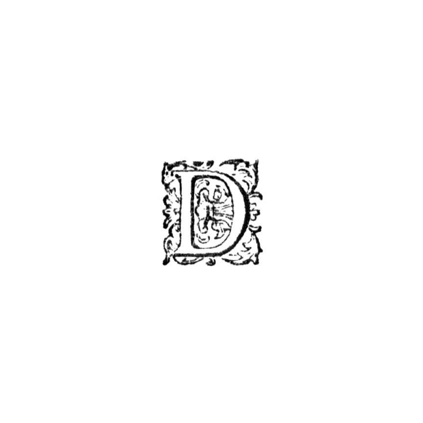 Initial letter—D