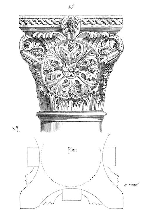 Romanesque Capital with Rosette