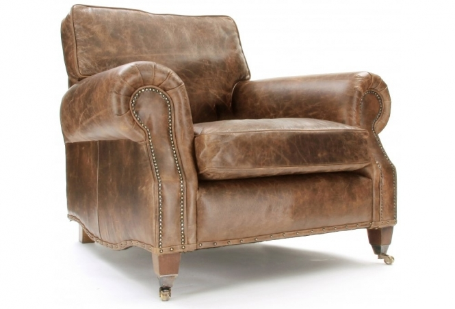 Hepburn  Vintage Leather Armchair from Old Boot Sofas
