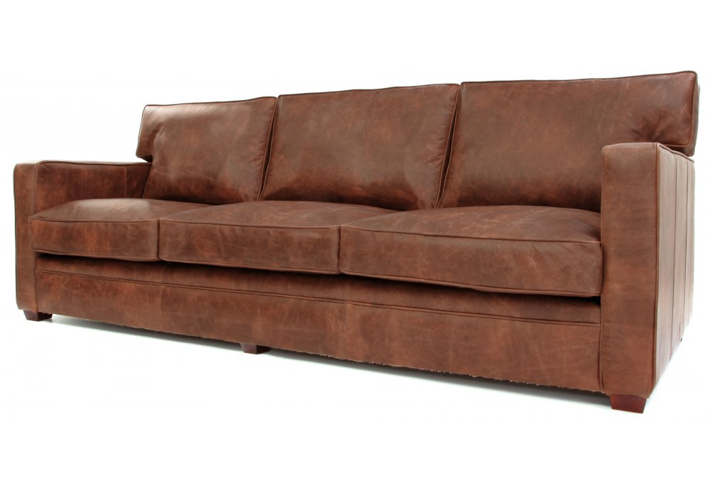 Whitechapel Extra Large Vintage Leather Sofa Bed from Old Boot Sofas