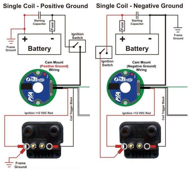 positive ground coil wiring positive image wiring ignition coil wiring diagram positive earth wiring diagrams on positive ground coil wiring