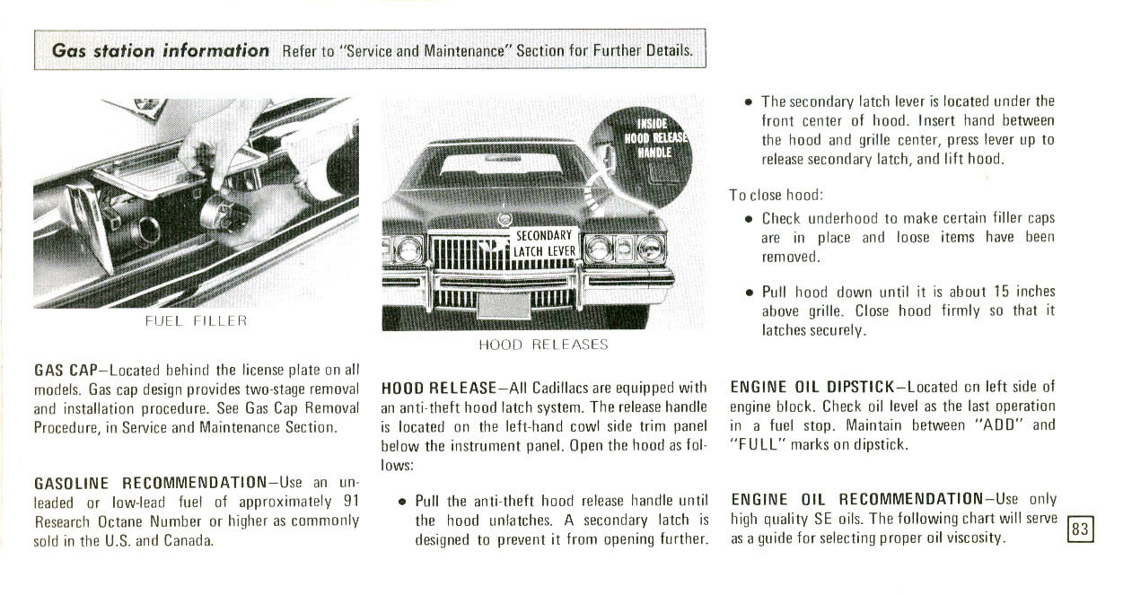 1973 Cadillac Owners Manual