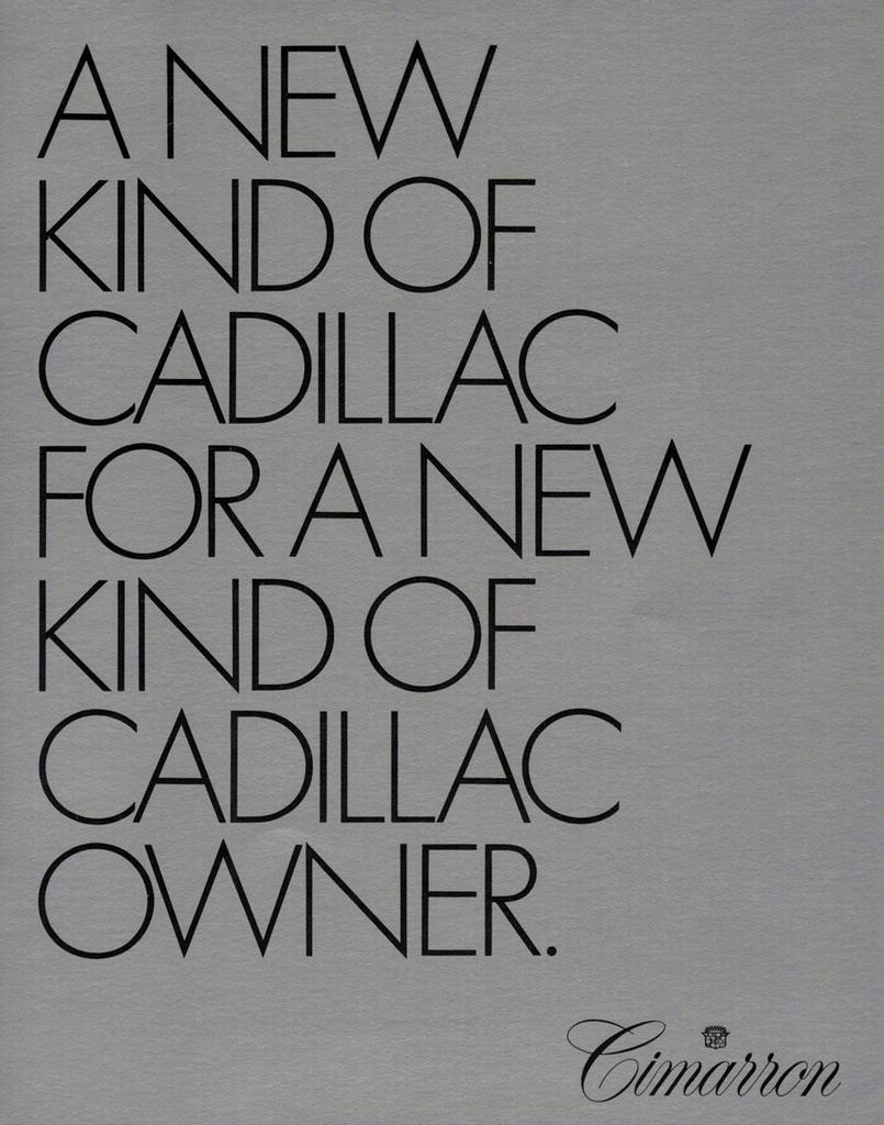 1982 Cadillac Cimarron Brochure