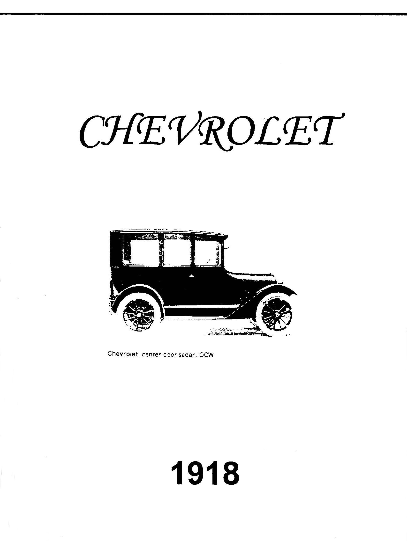 1918 Chevrolet Operating Manual