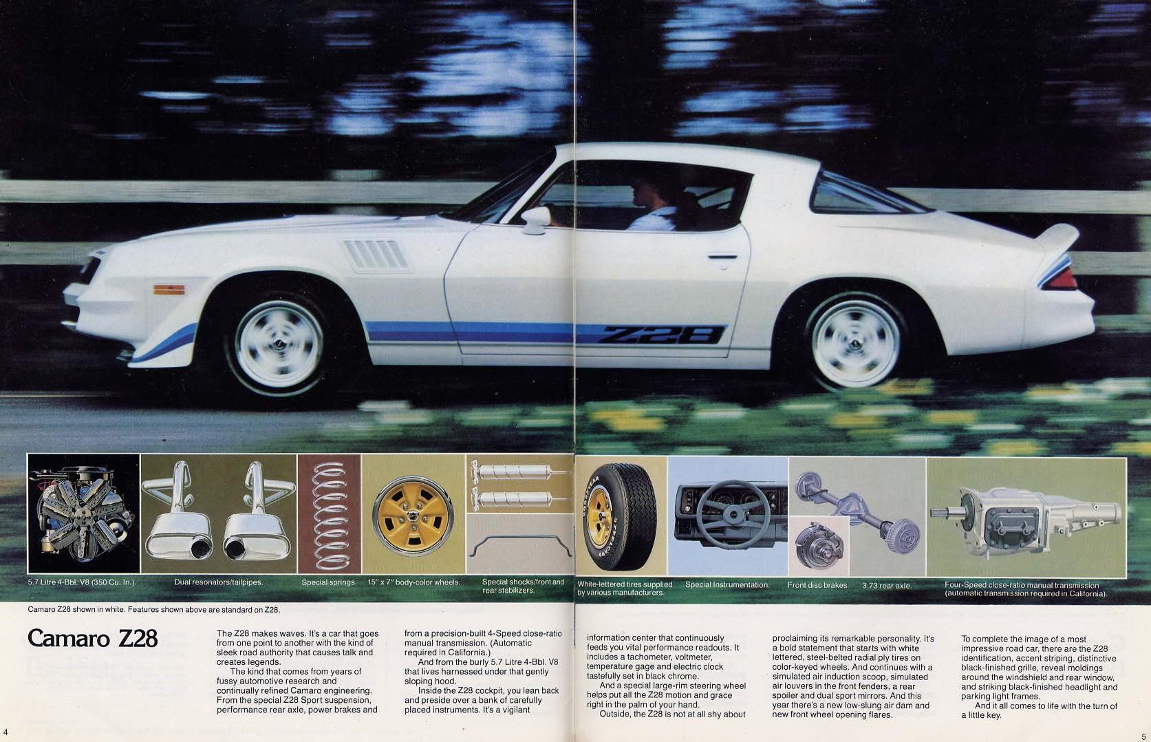 1979 Chevrolet Camaro Z28 Brochure 1978