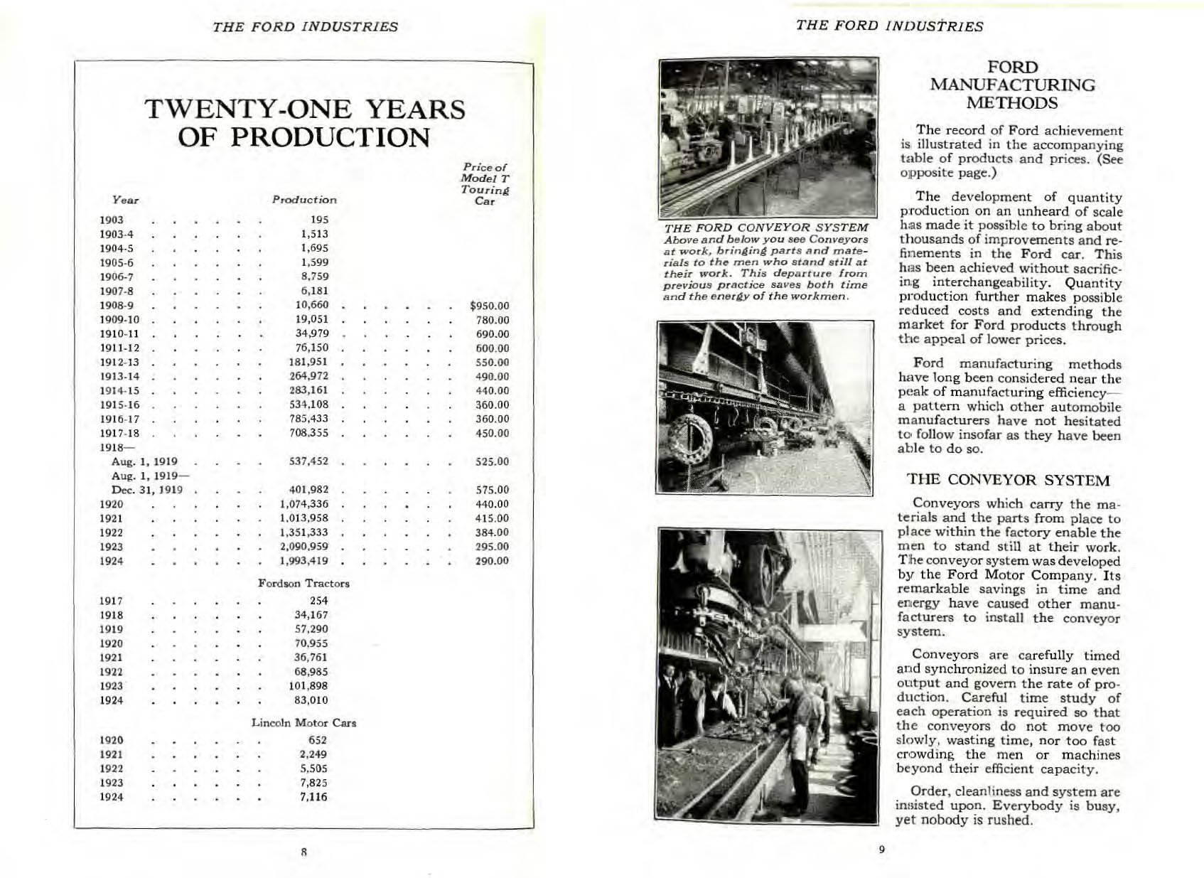 1925 The Ford Industries Booklet