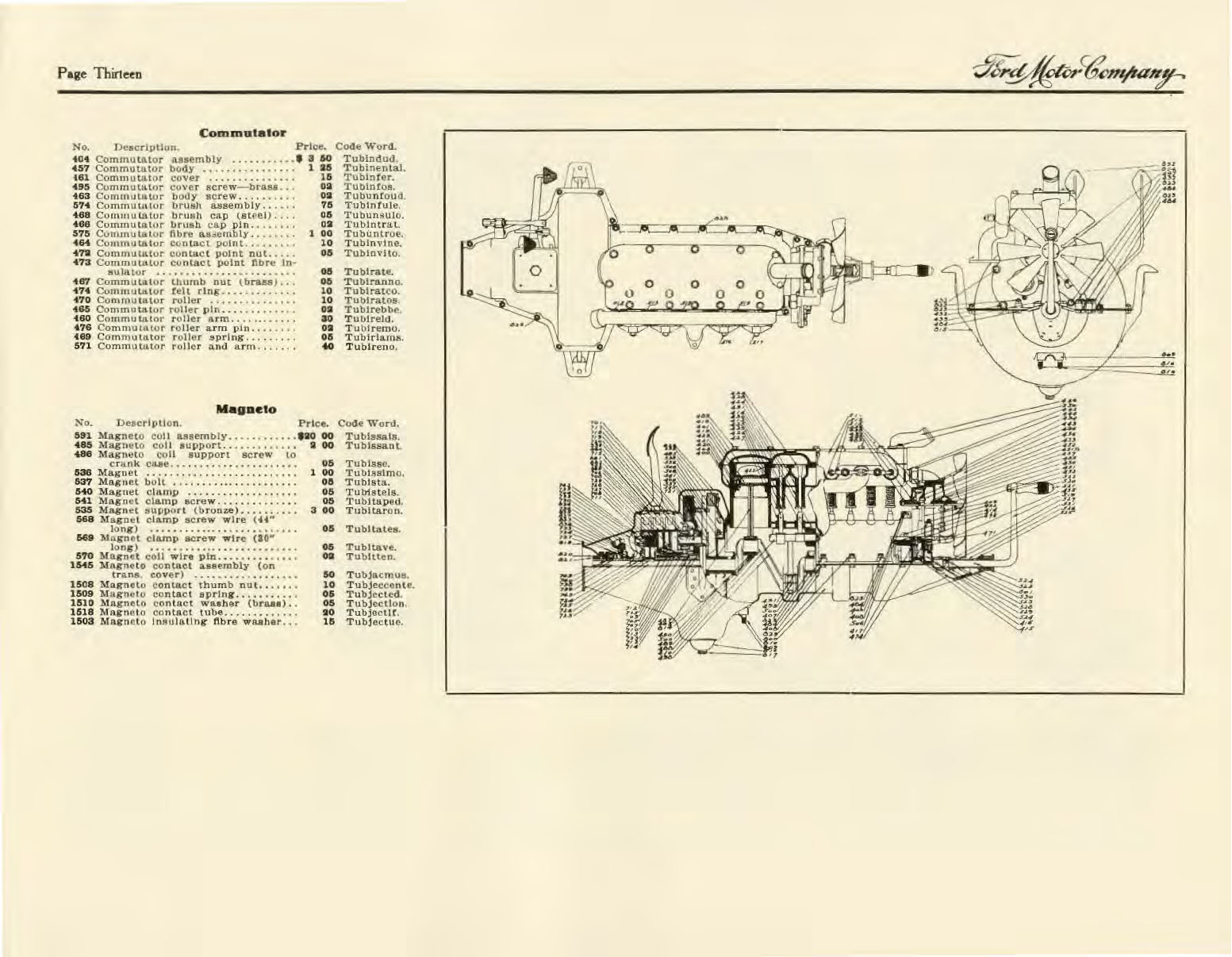 1926 Model T Wiring Diagram 1927 Ford Hight Resolution Of 1909 Price List