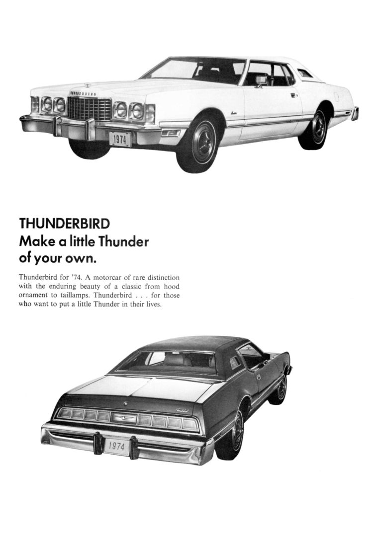1974 Ford Thunderbird Facts Booklet