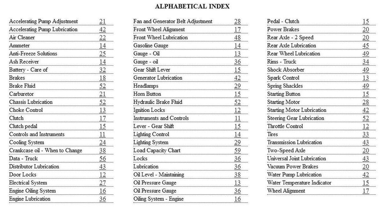 1940 Chevrolet Trucks Owners Manual