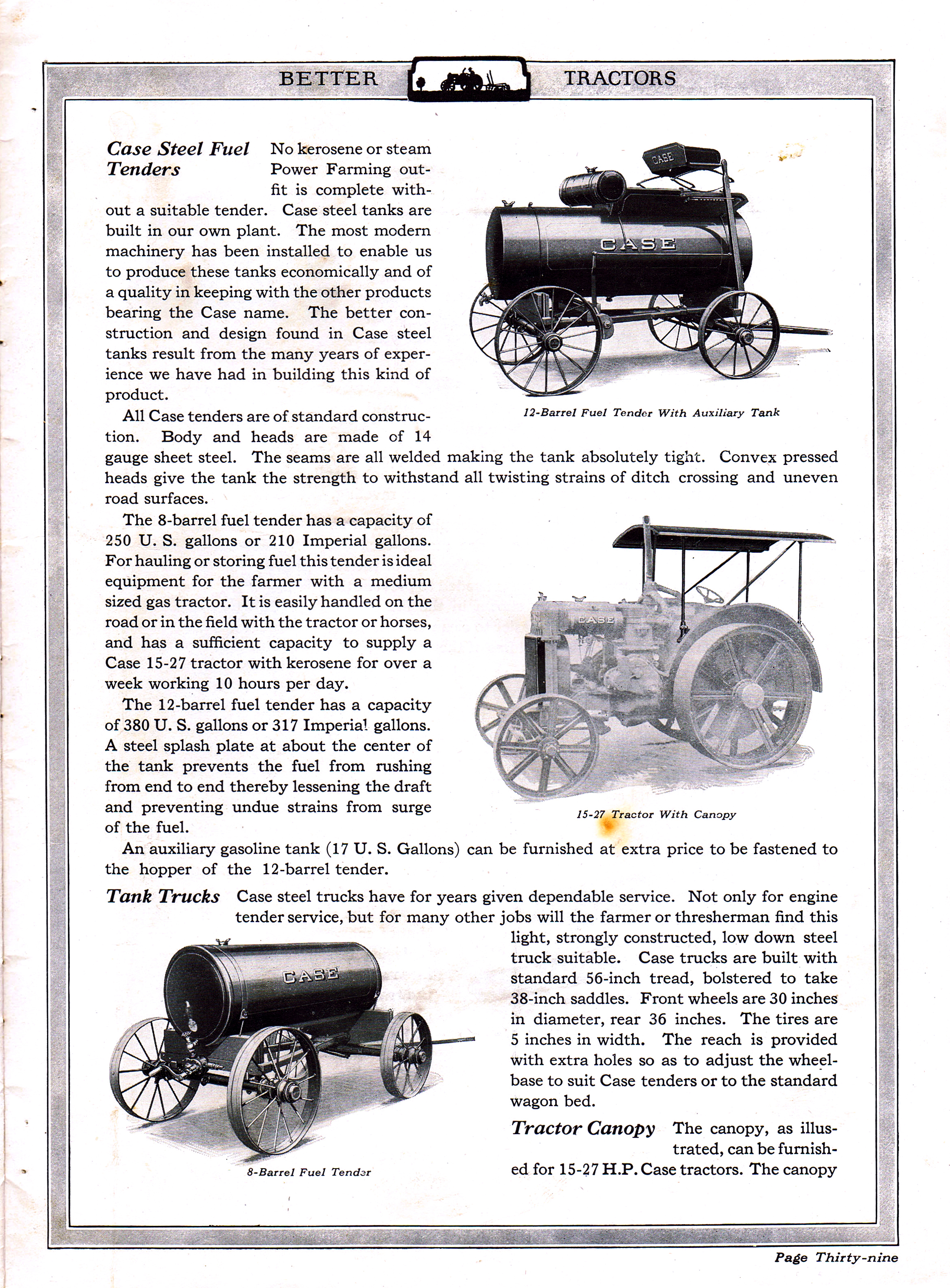 1924 Case: Better Farming With Better Tractors page 40 of 50