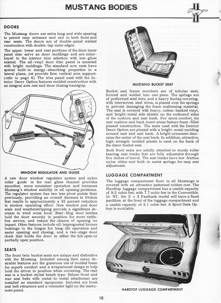 1967 Mustang Illustrated Book of Facts page 17 of 29