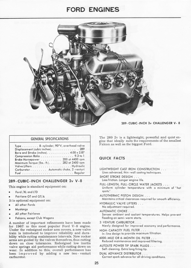 1967 Mustang Illustrated Book of Facts page 24 of 29