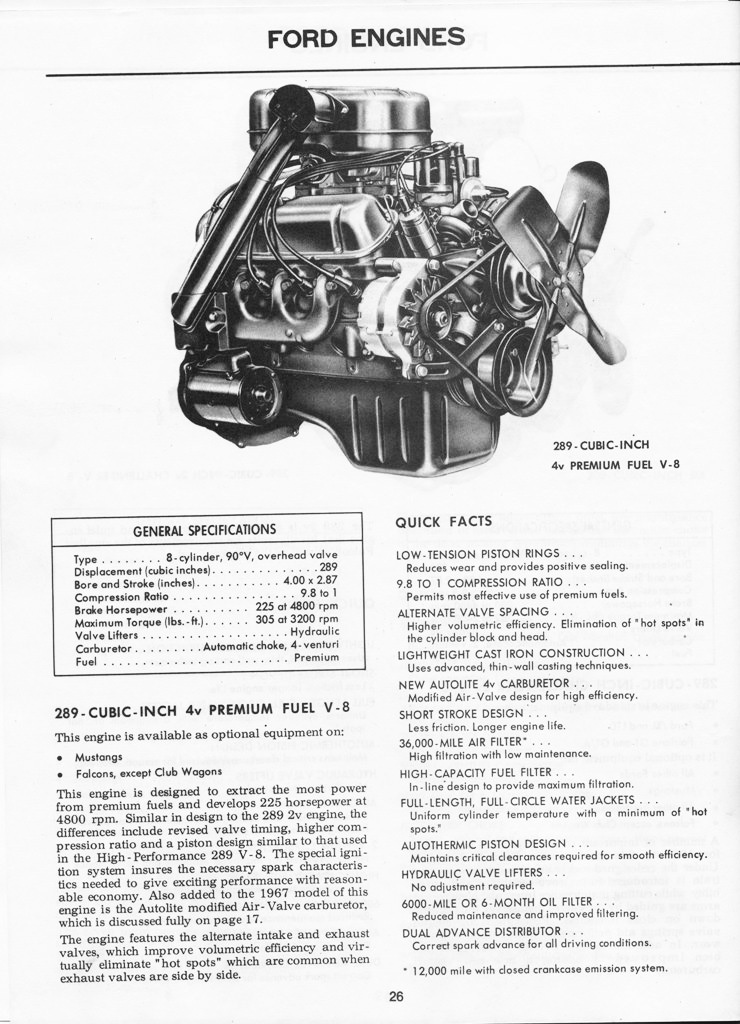 1967 Mustang Illustrated Book of Facts page 25 of 29