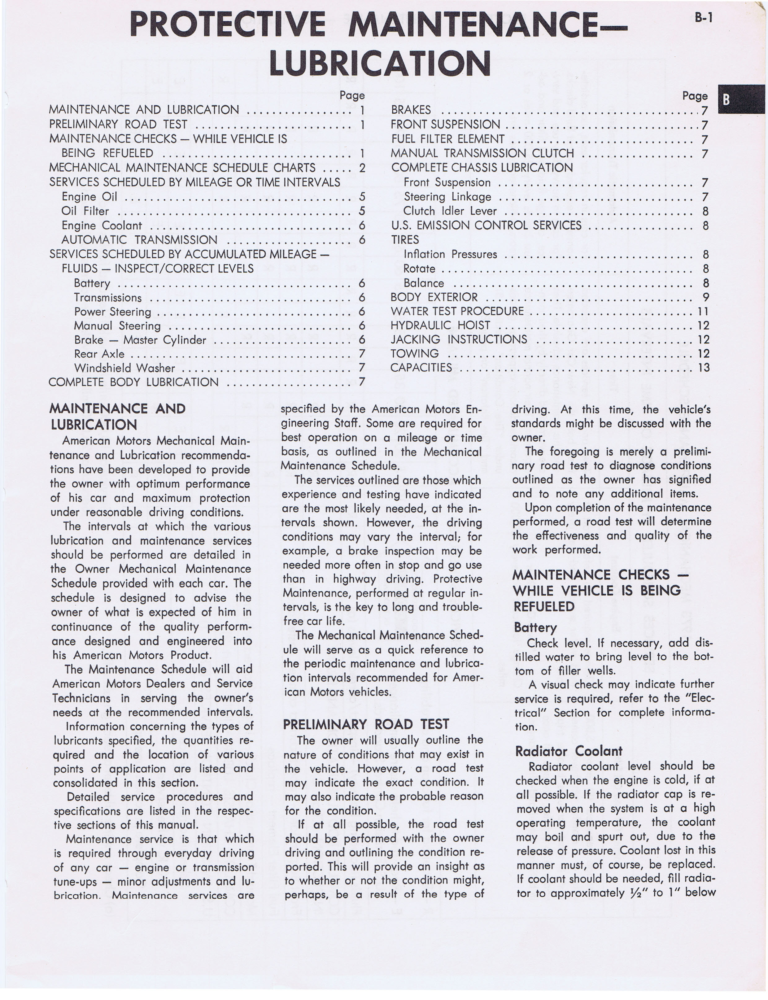 1973 AMC Technical Service Manual page 9 of 487