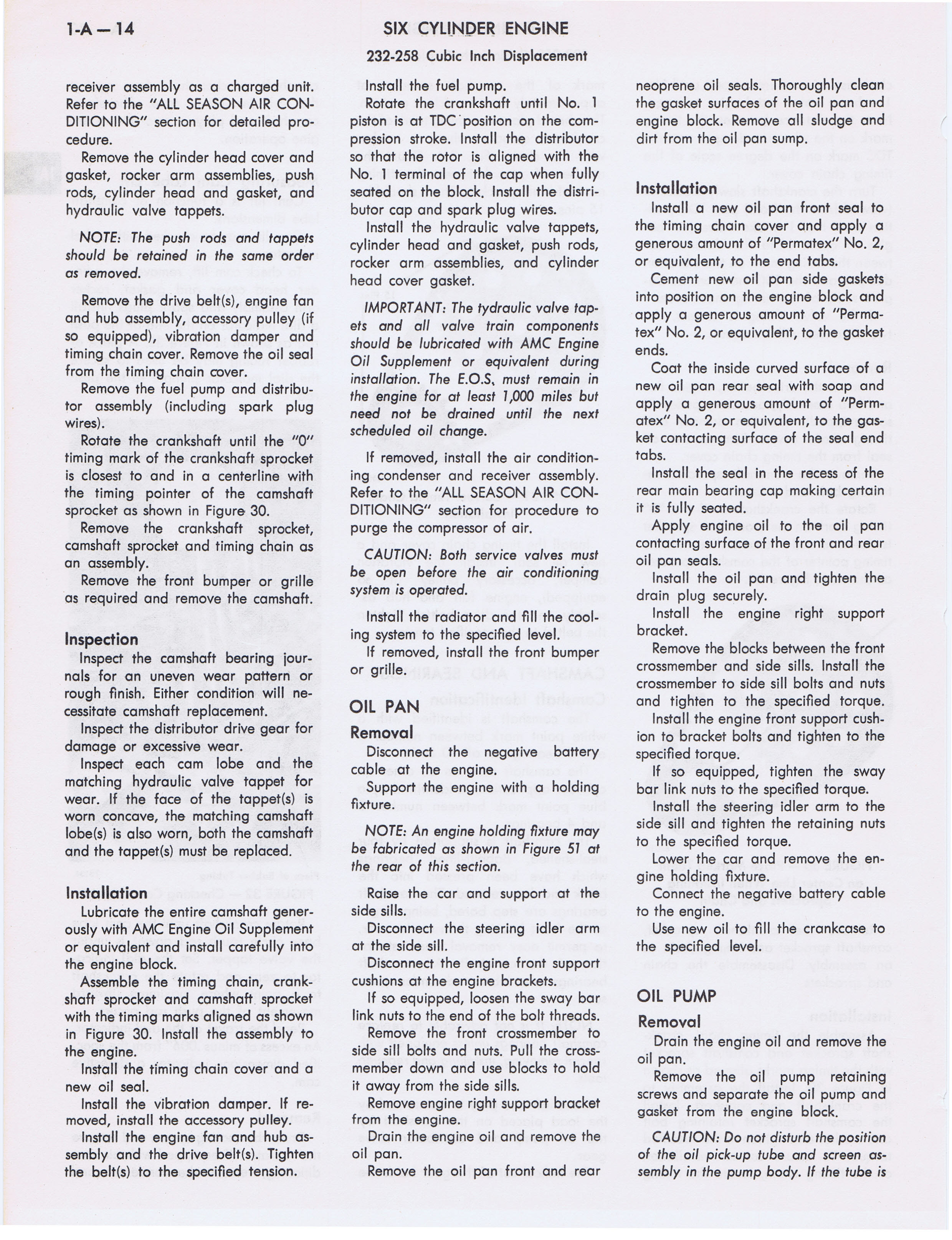 1973 AMC Technical Service Manual page 36 of 487