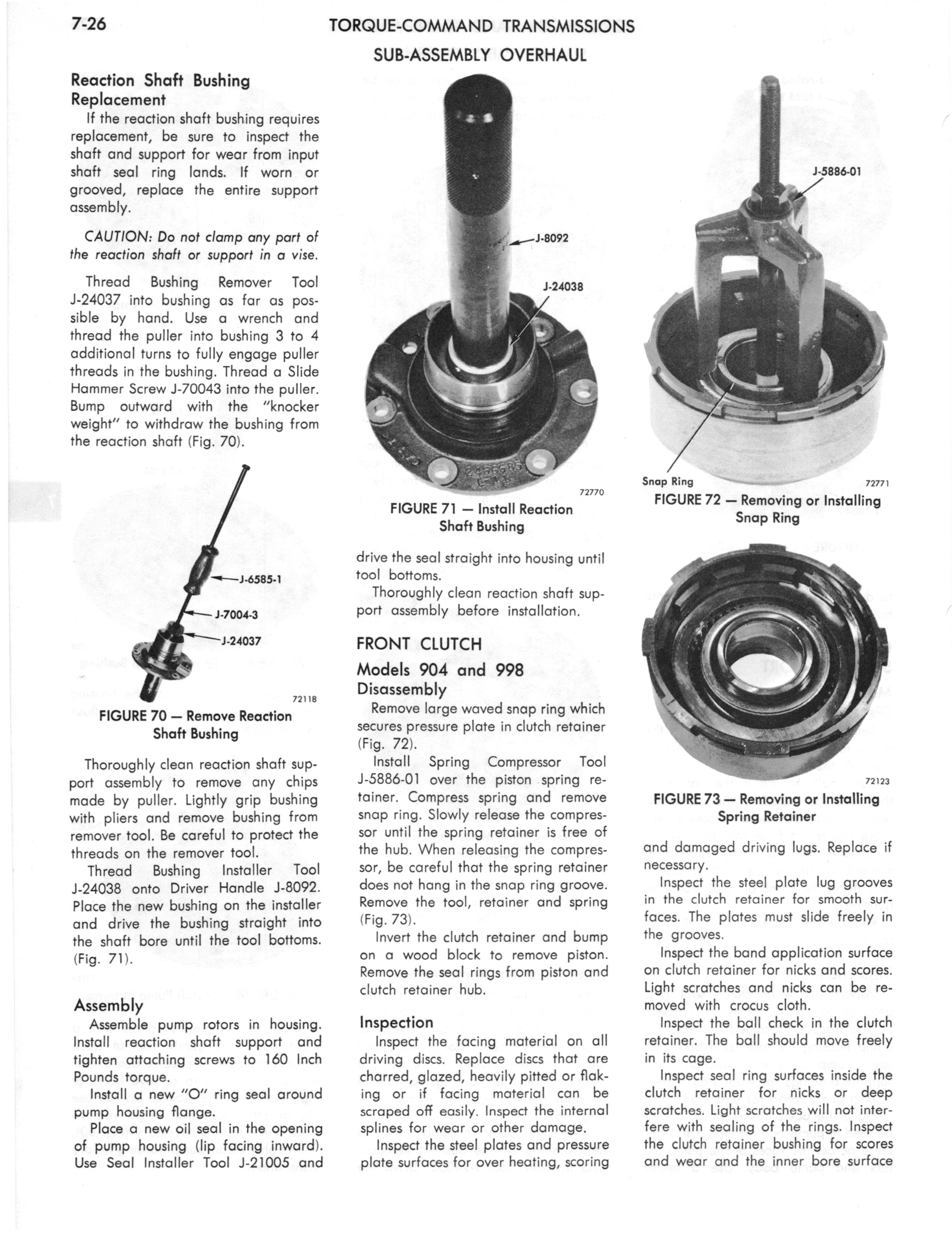1973 AMC Technical Service Manual page 238 of 487