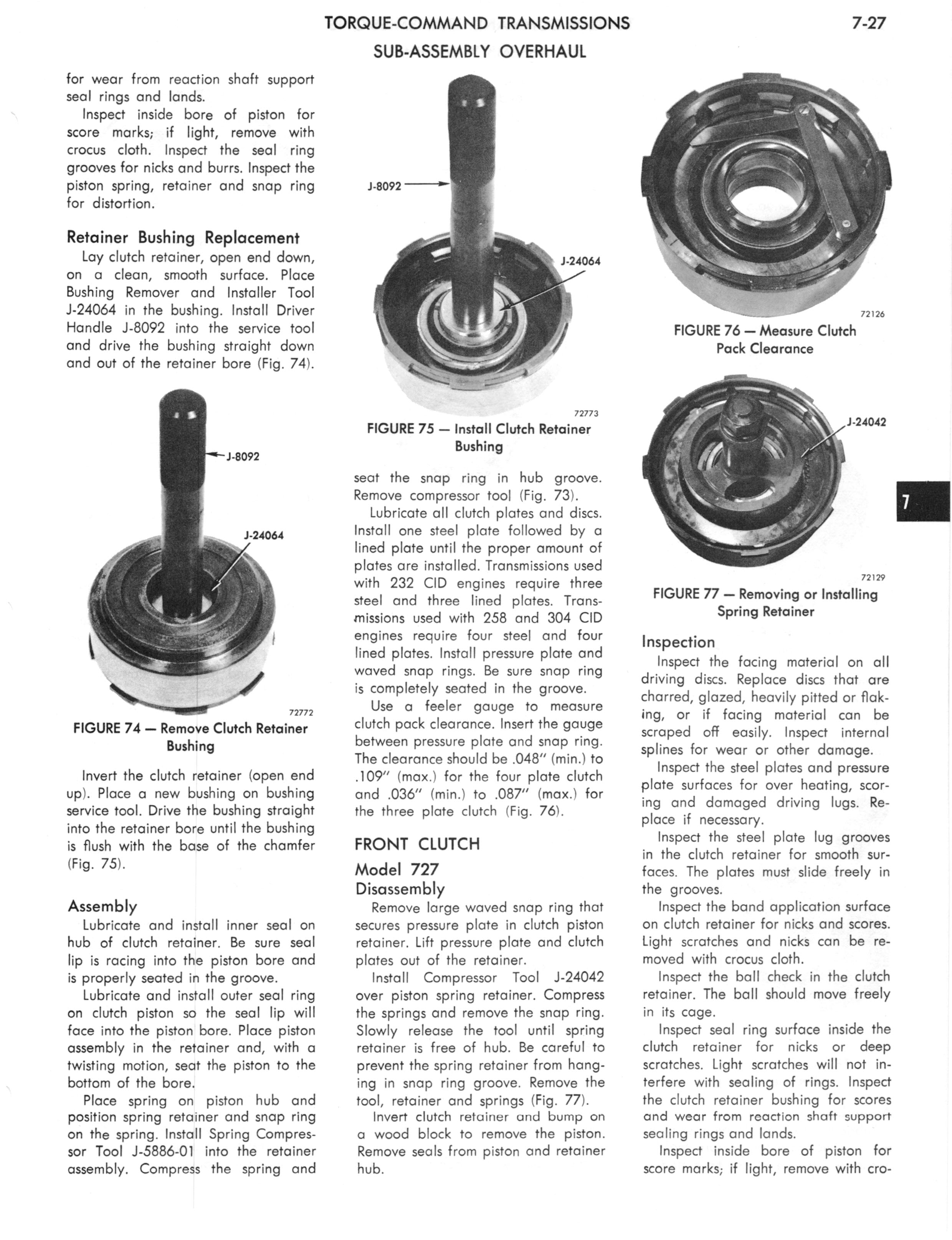 1973 AMC Technical Service Manual page 239 of 487