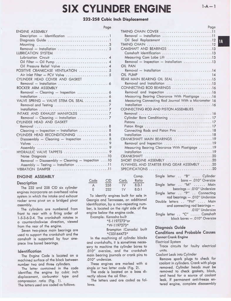 1973 AMC Technical Service Manual page 23 of 487