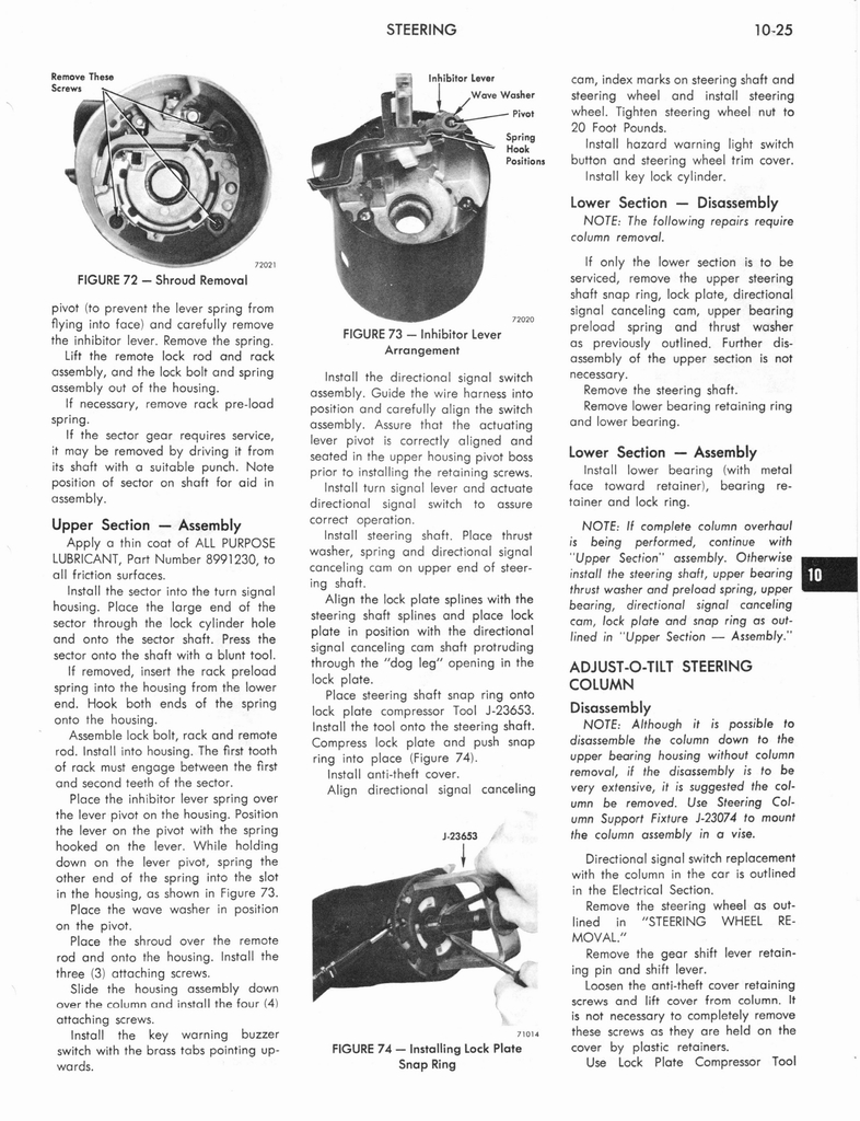 1973 AMC Technical Service Manual page 321 of 487