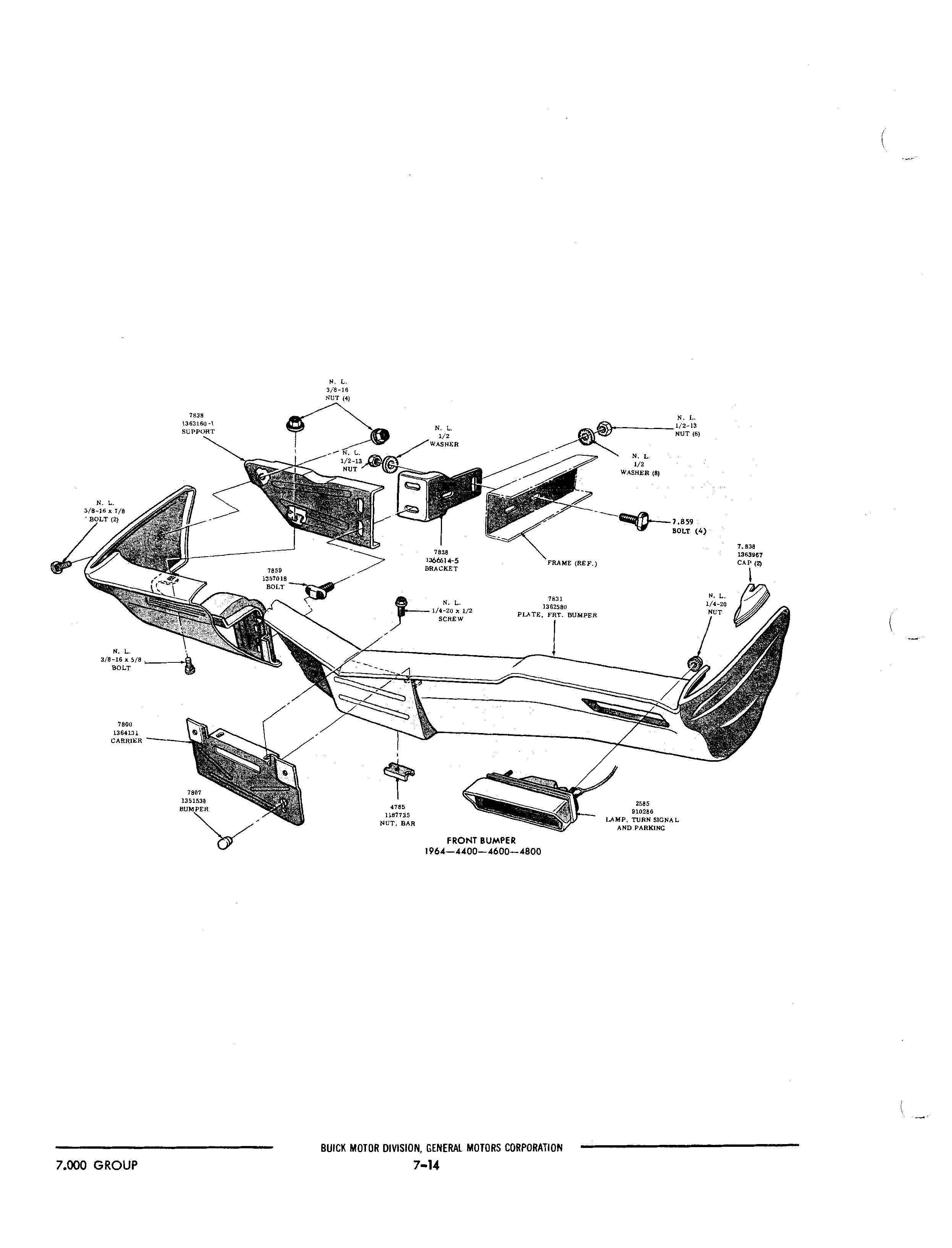 Buick 1940-1972 Part Illustrations / Buick Chassis And
