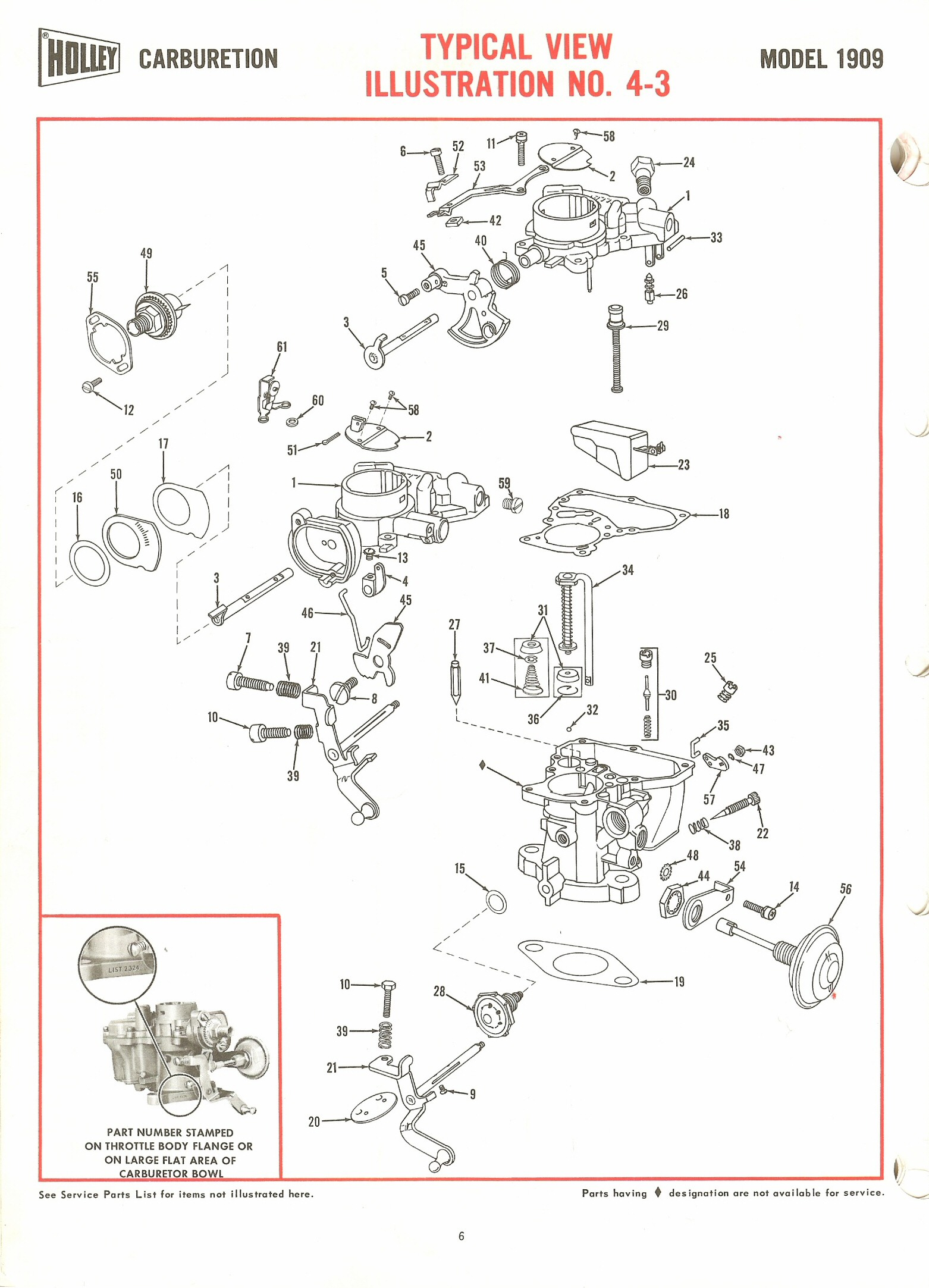 hight resolution of holley 1909 exploded diagrams the old car manual project holley carb diagram