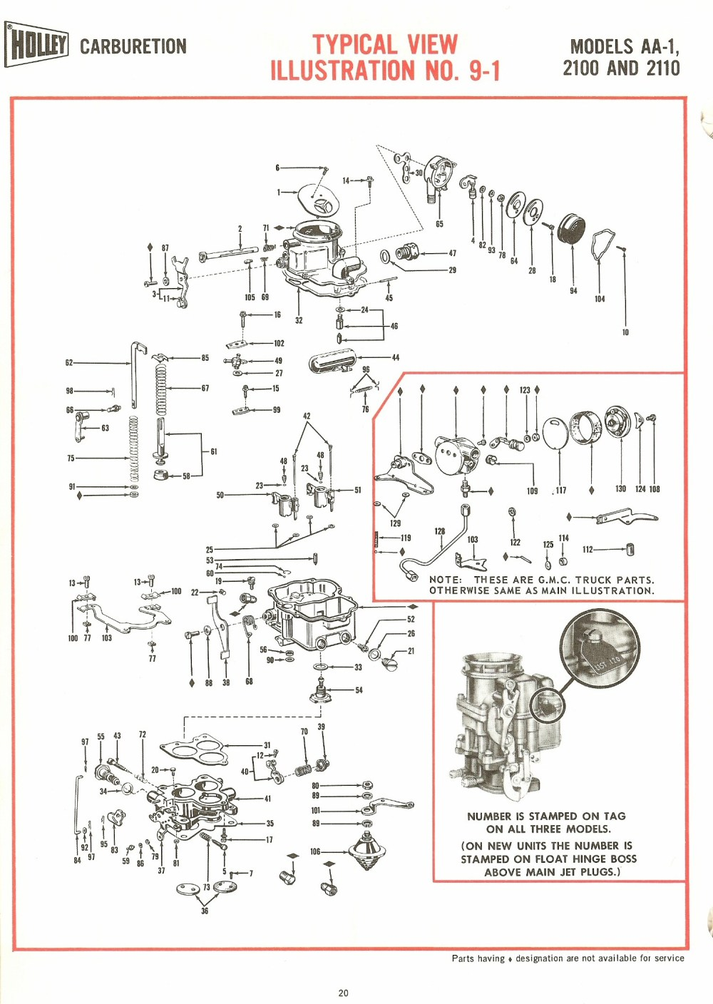 medium resolution of holley aa 1 2100 and 2110 exploded diagrams the old car manualholley 4150 diagram