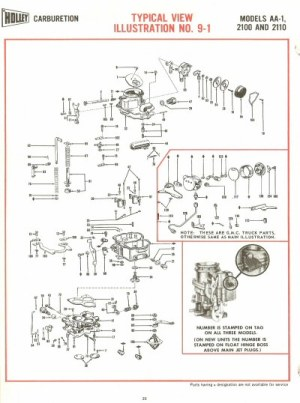 Holley AA1, 2100 and 2110 Exploded Diagrams  The Old Car