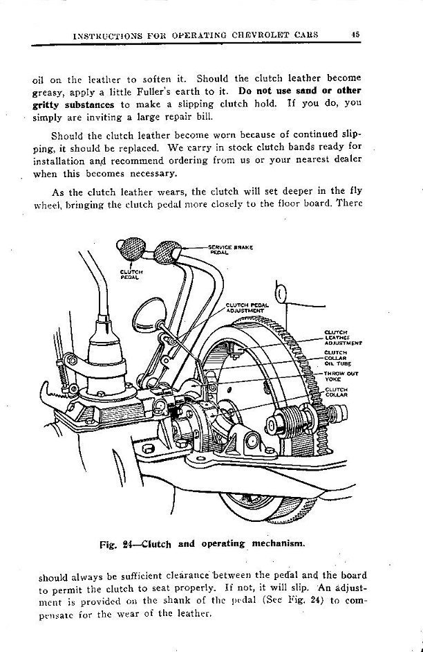1924 Chevrolet Owner's Manual (Canadian)
