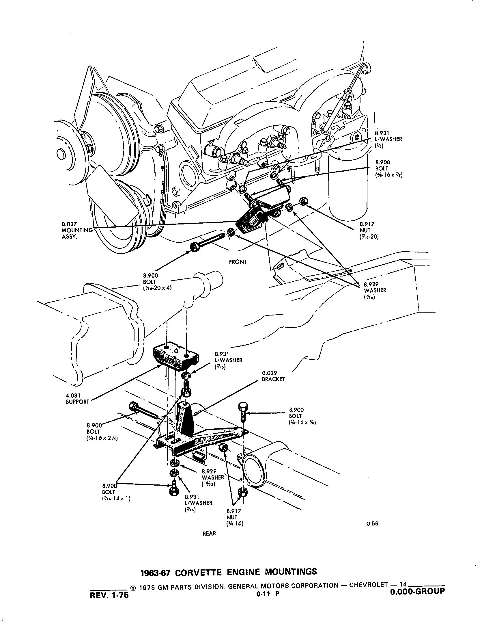 Group 0.000 Engine Clutch53-75 Corvette / 1953-1973