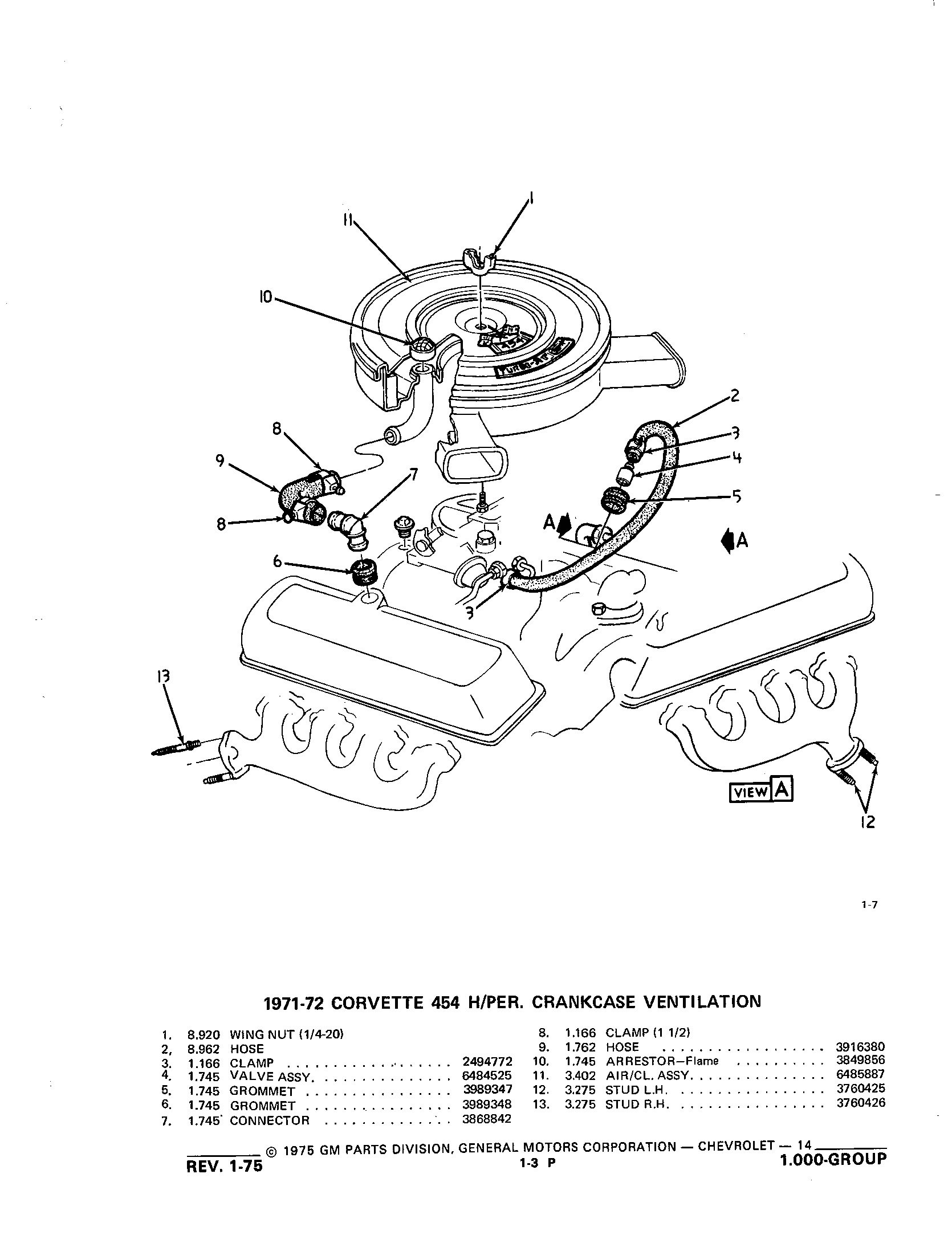 Group 1.000 Coolant, Grille, Oil Systems / 1953-1973