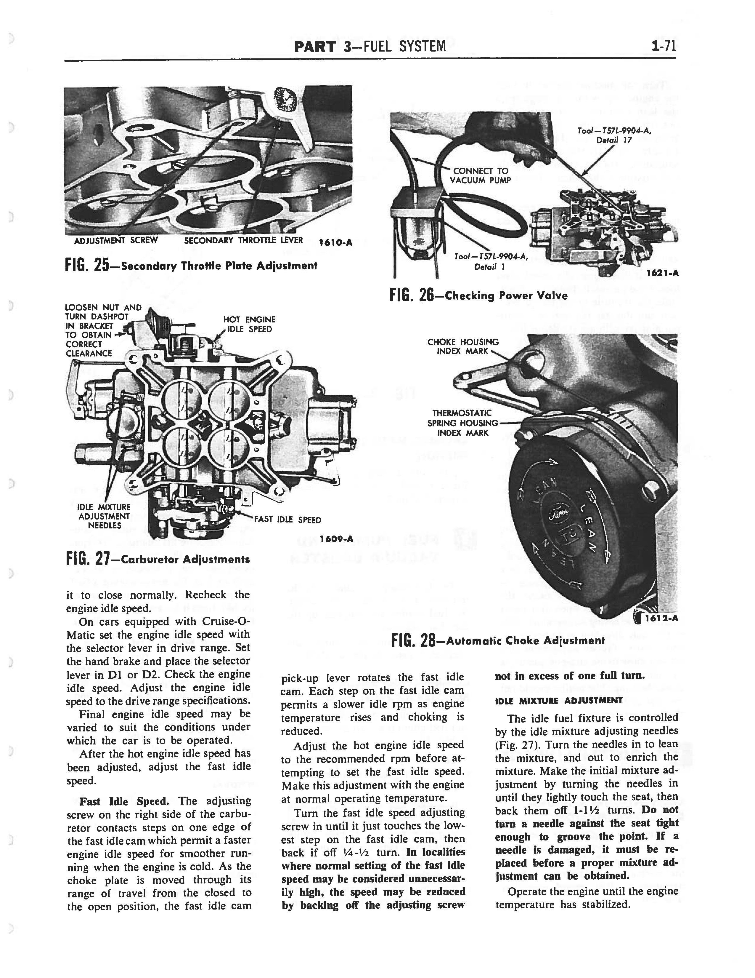 1958 Ford Thunderbird Shop Manual page 75 of 360