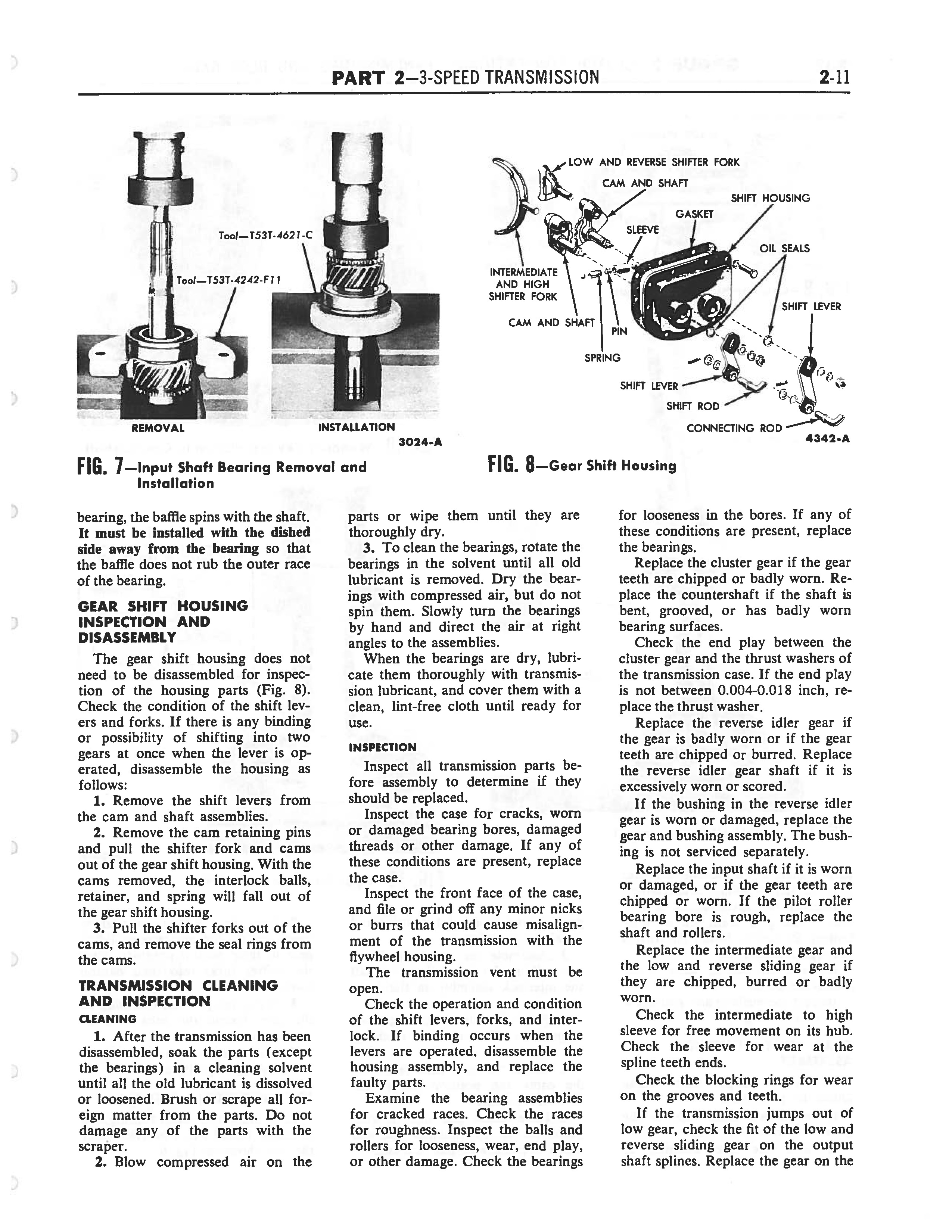 1958 Ford Thunderbird Shop Manual page 97 of 360