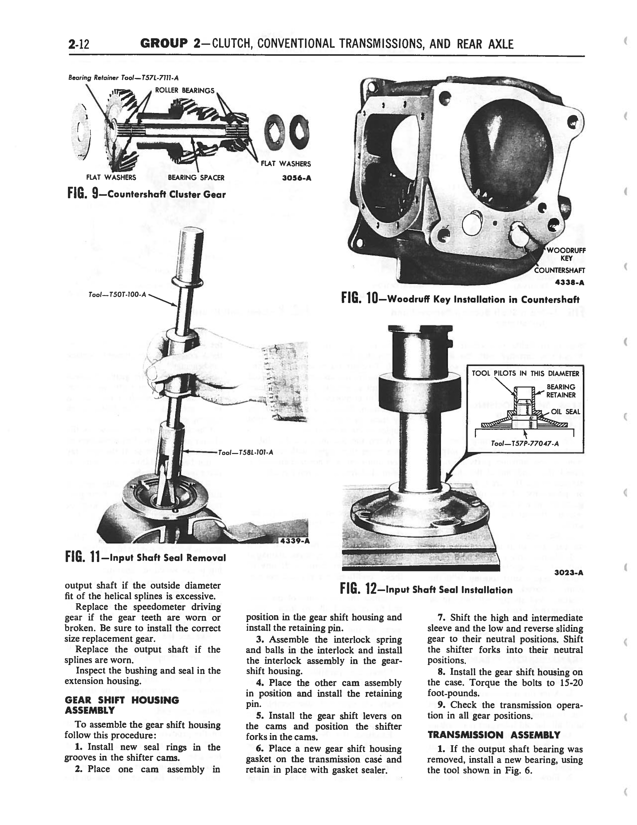 1958 Ford Thunderbird Shop Manual page 98 of 360