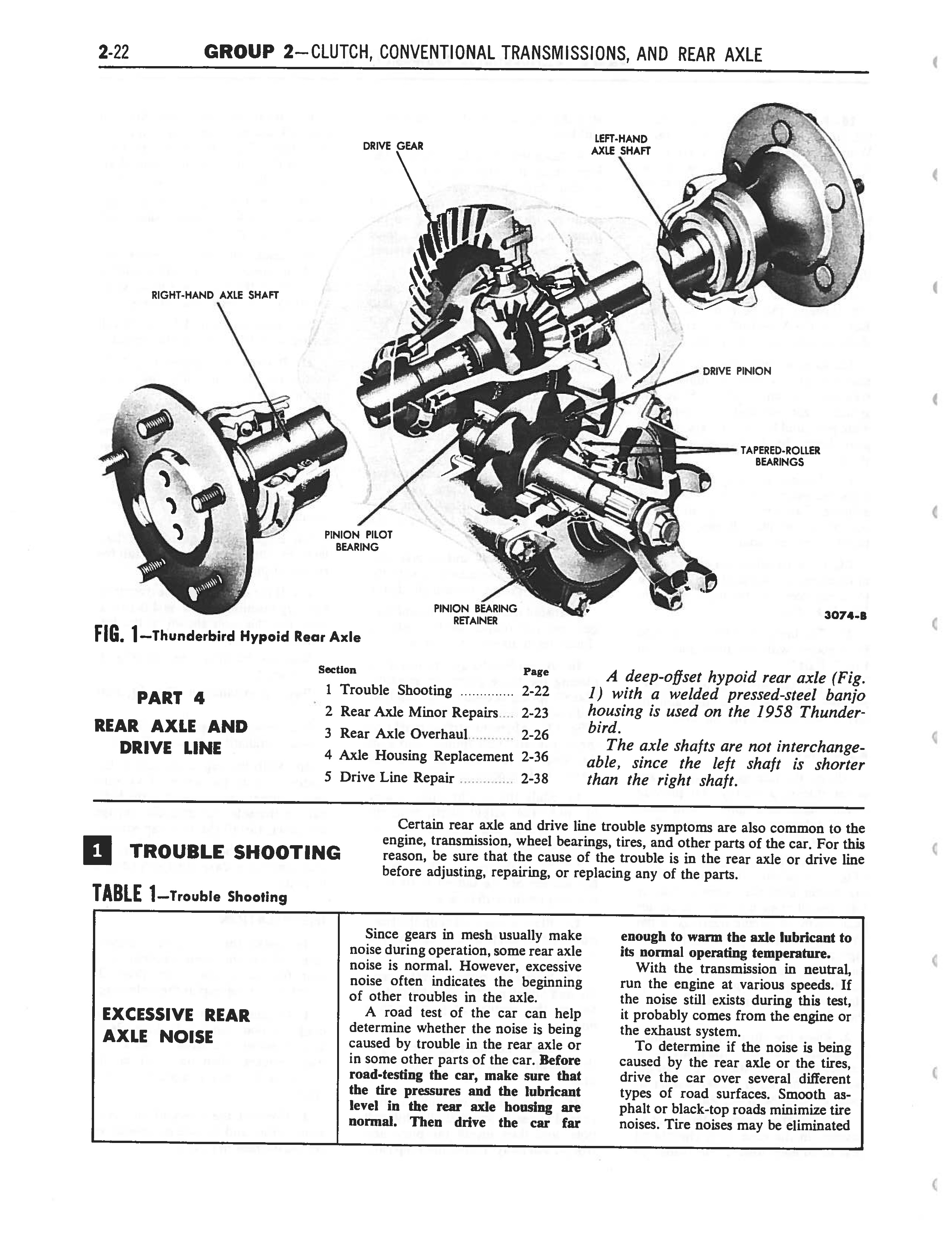 1958 Ford Thunderbird Shop Manual page 108 of 360