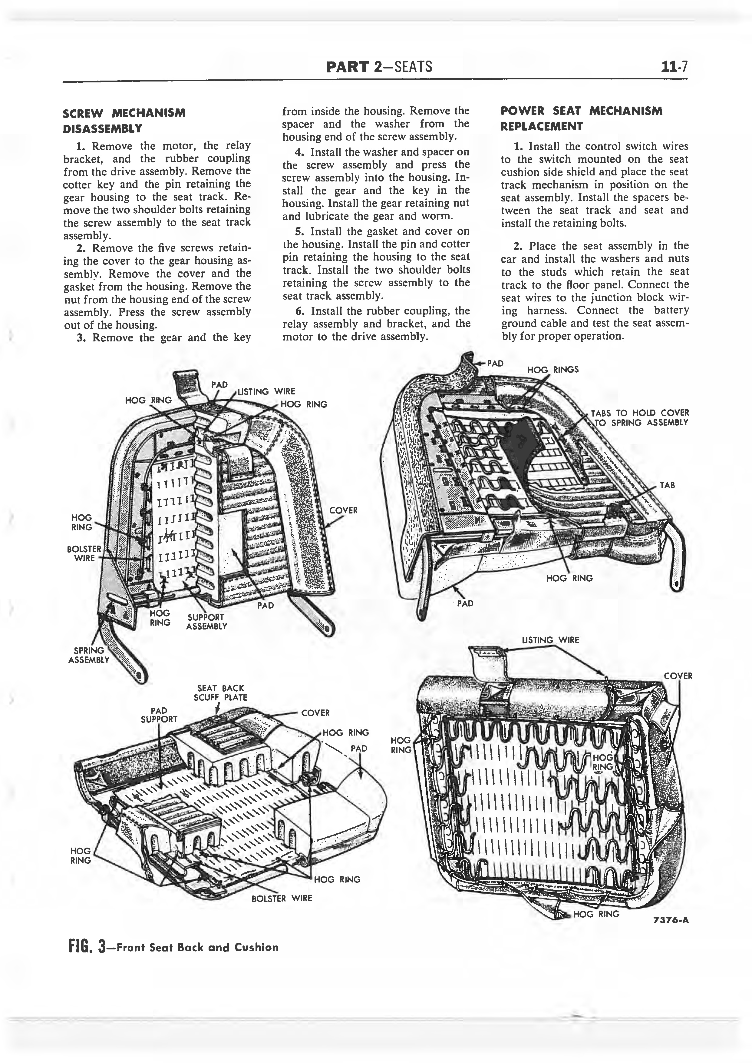 1958 Ford Thunderbird Shop Manual page 320 of 360