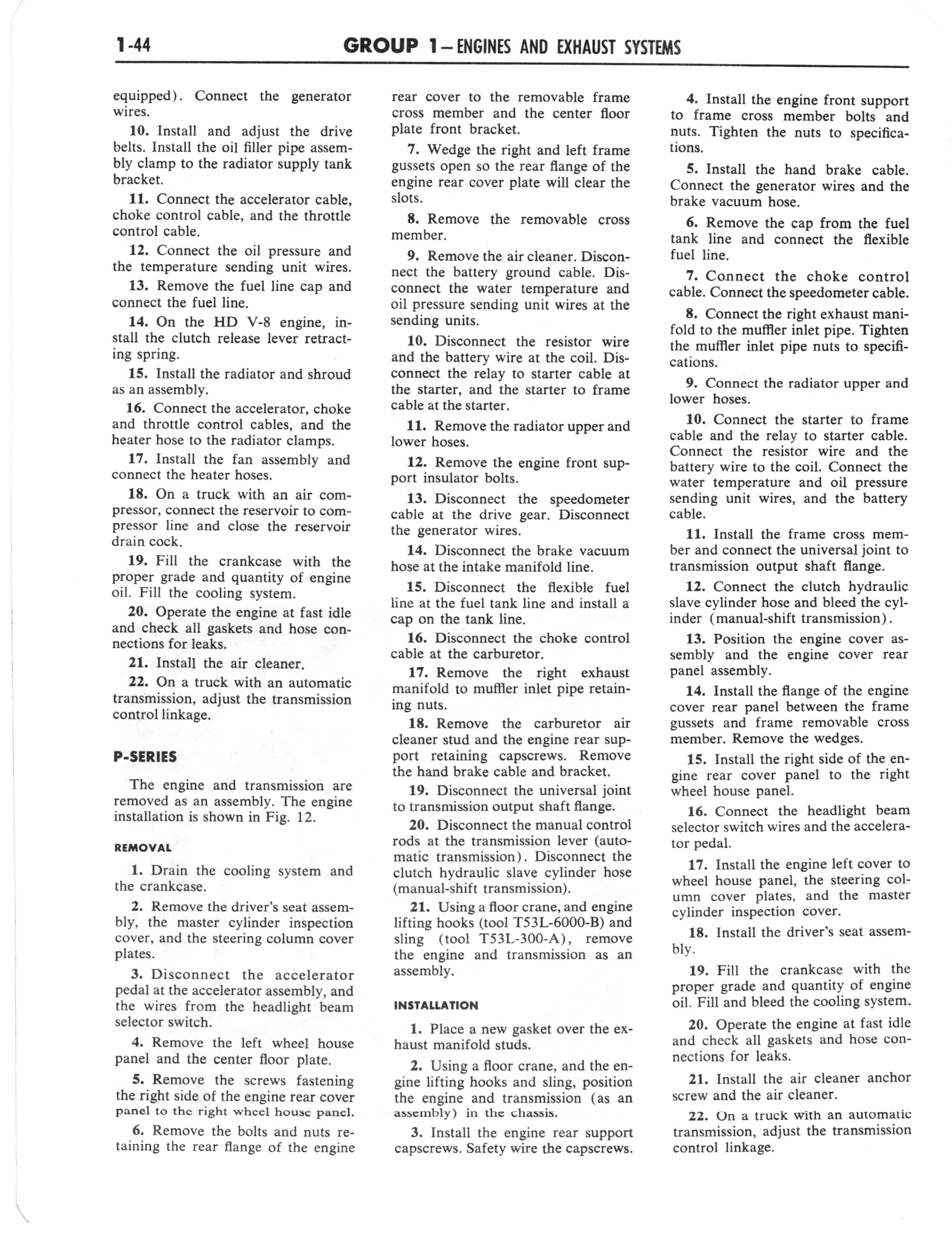 1960 Ford and Mercury Truck Shop Manual page 53 of 641