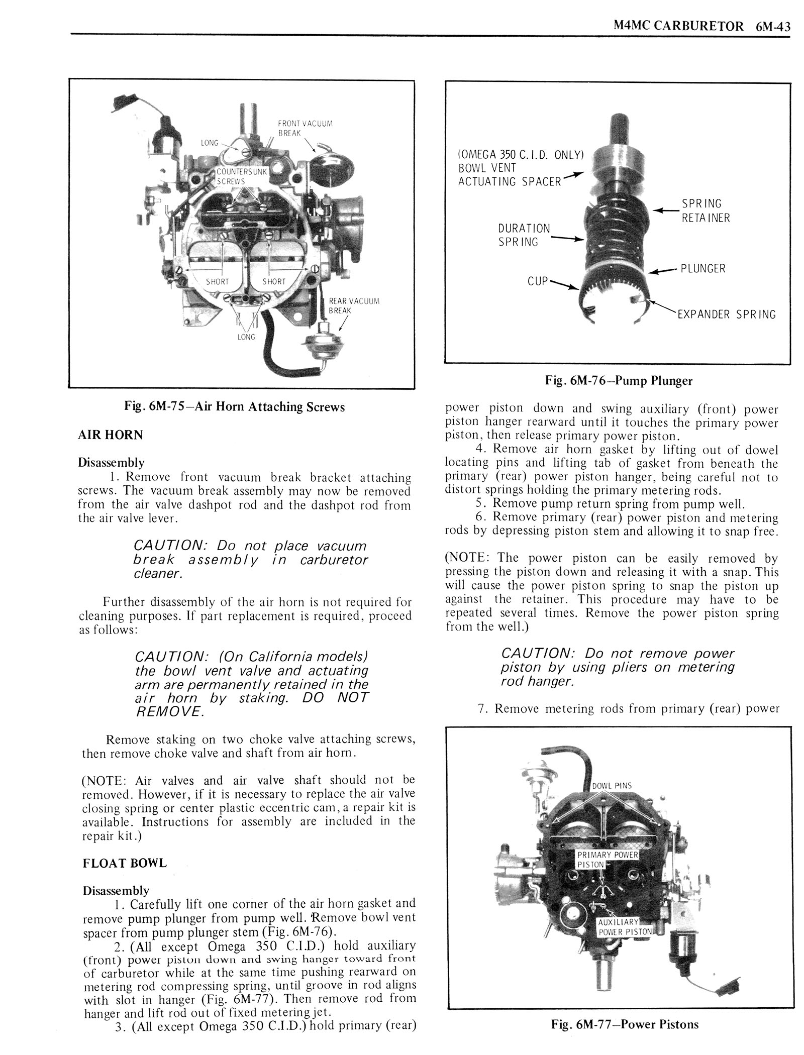 1976 Oldsmobile Service Manual page 597 of 1390