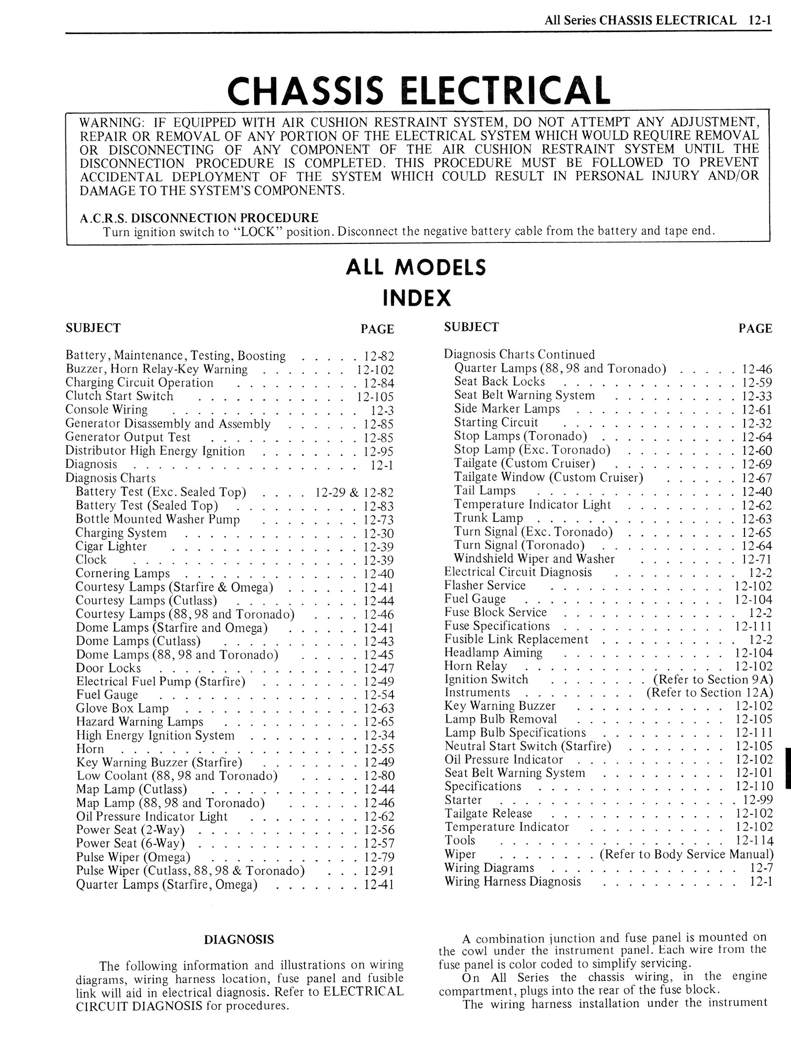 1976 Oldsmobile Service Manual page 1121 of 1390