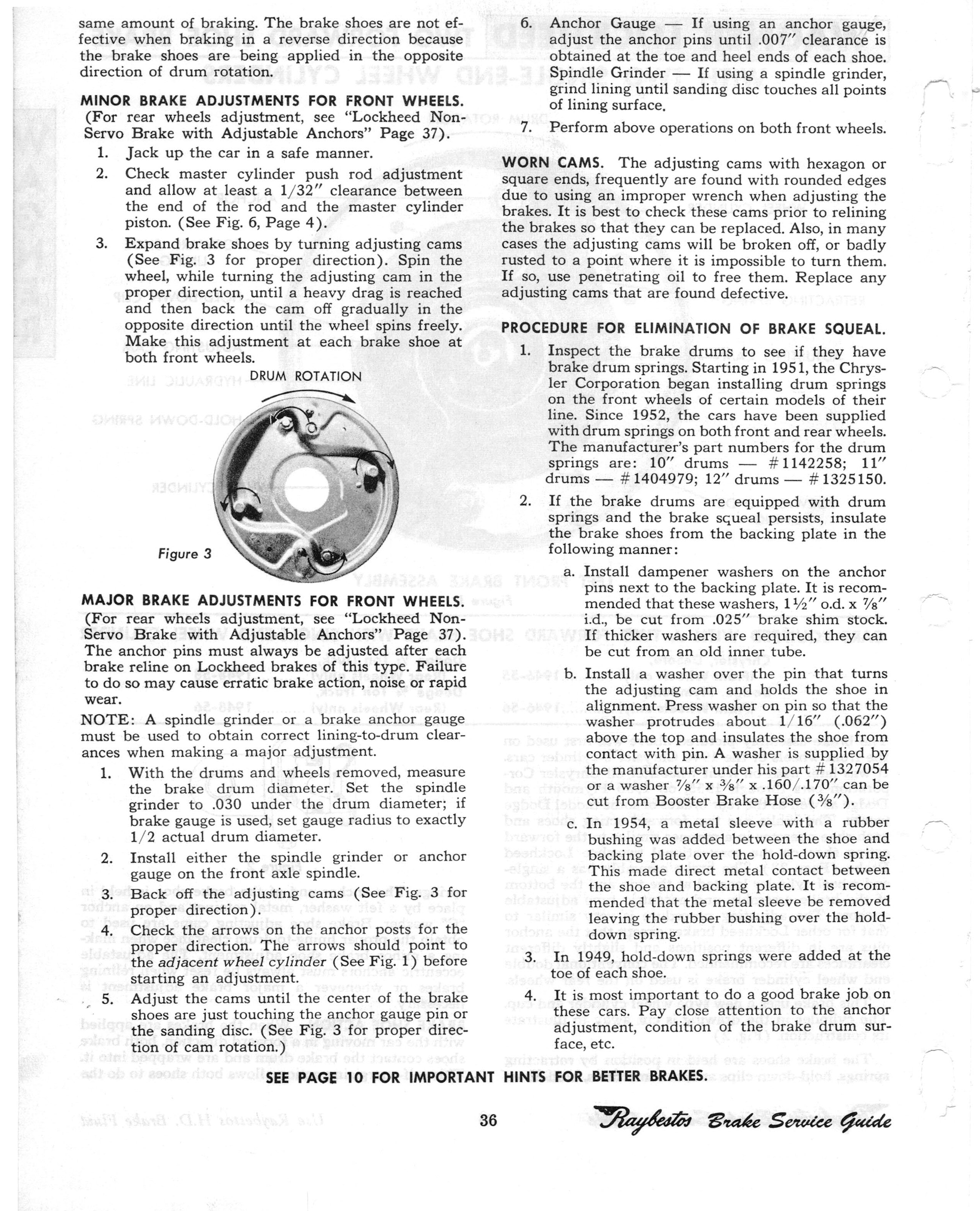 1940-1961 Brake Service Guide by Raybestos page 38 of 76