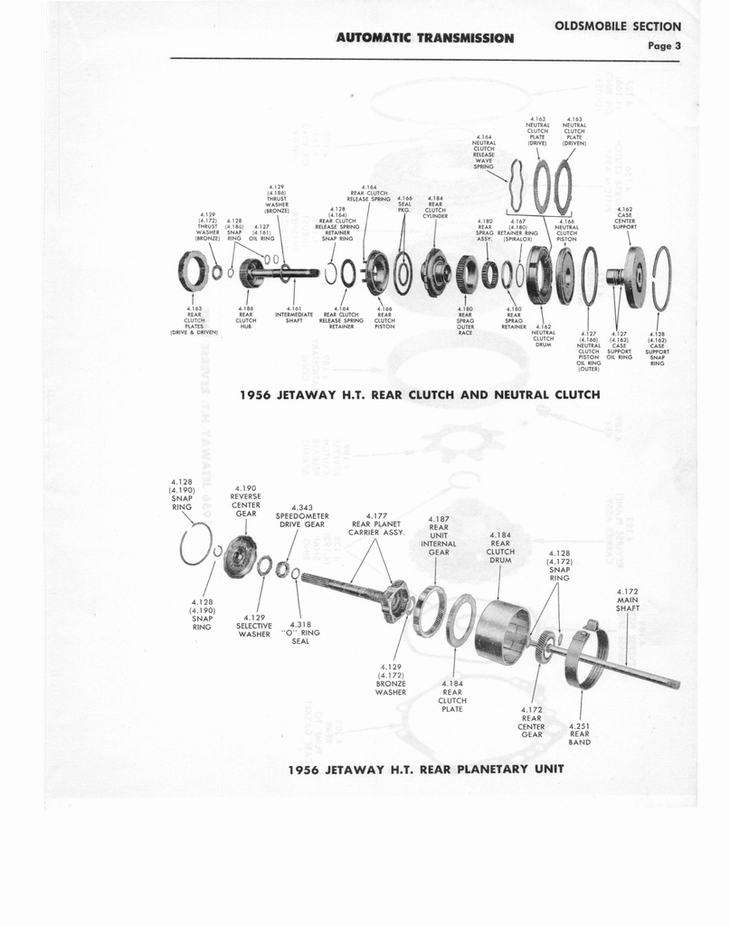 1956 GM Automatic Transmission Parts Catalog Supplement to