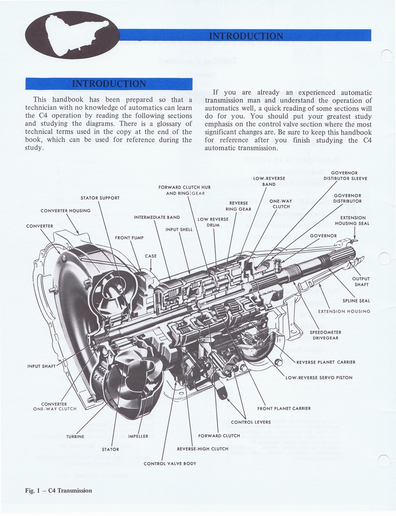 1971 Ford C4 Automatic Transmission Technician Reference