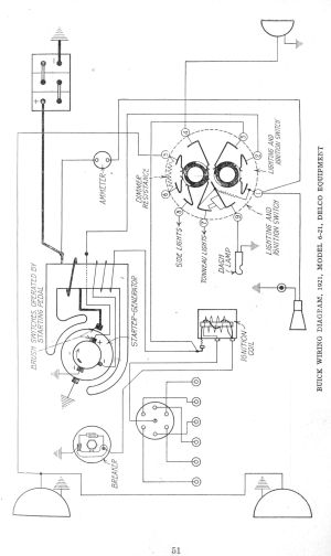 Early 1920's Apperson and Buick Wiring Diagrams  The Old