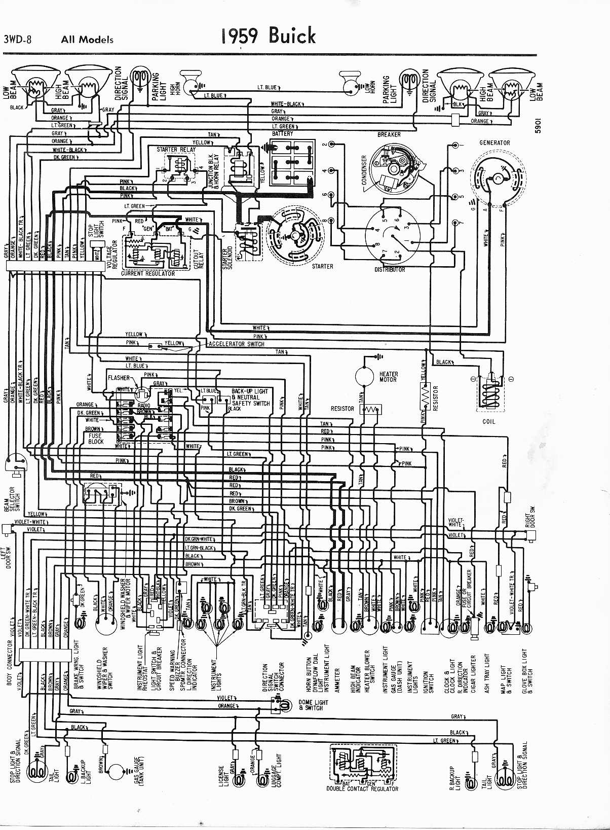 hight resolution of buick wiring diagrams 1957 1965 rh oldcarmanualproject com 1960 buick wiring diagram 1960 buick lesabre wiring diagram