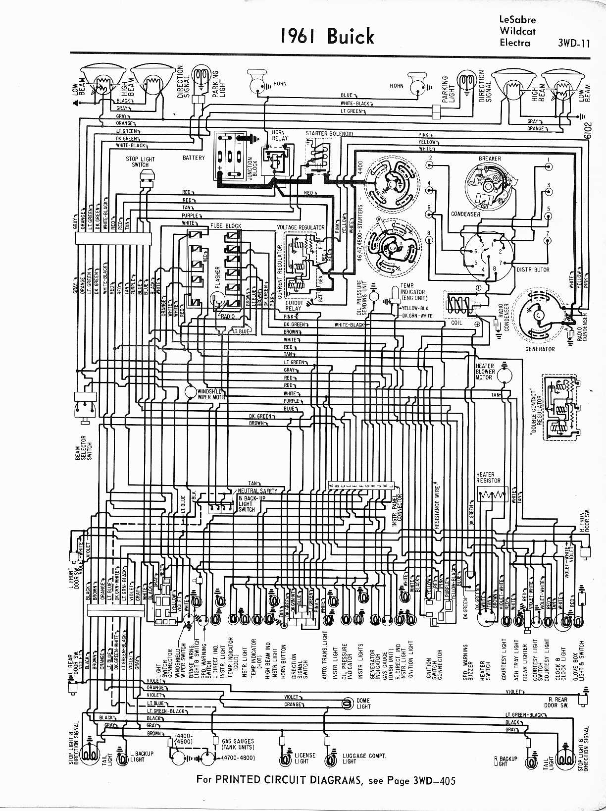 Buick Wiring Diagrams 1957 1965