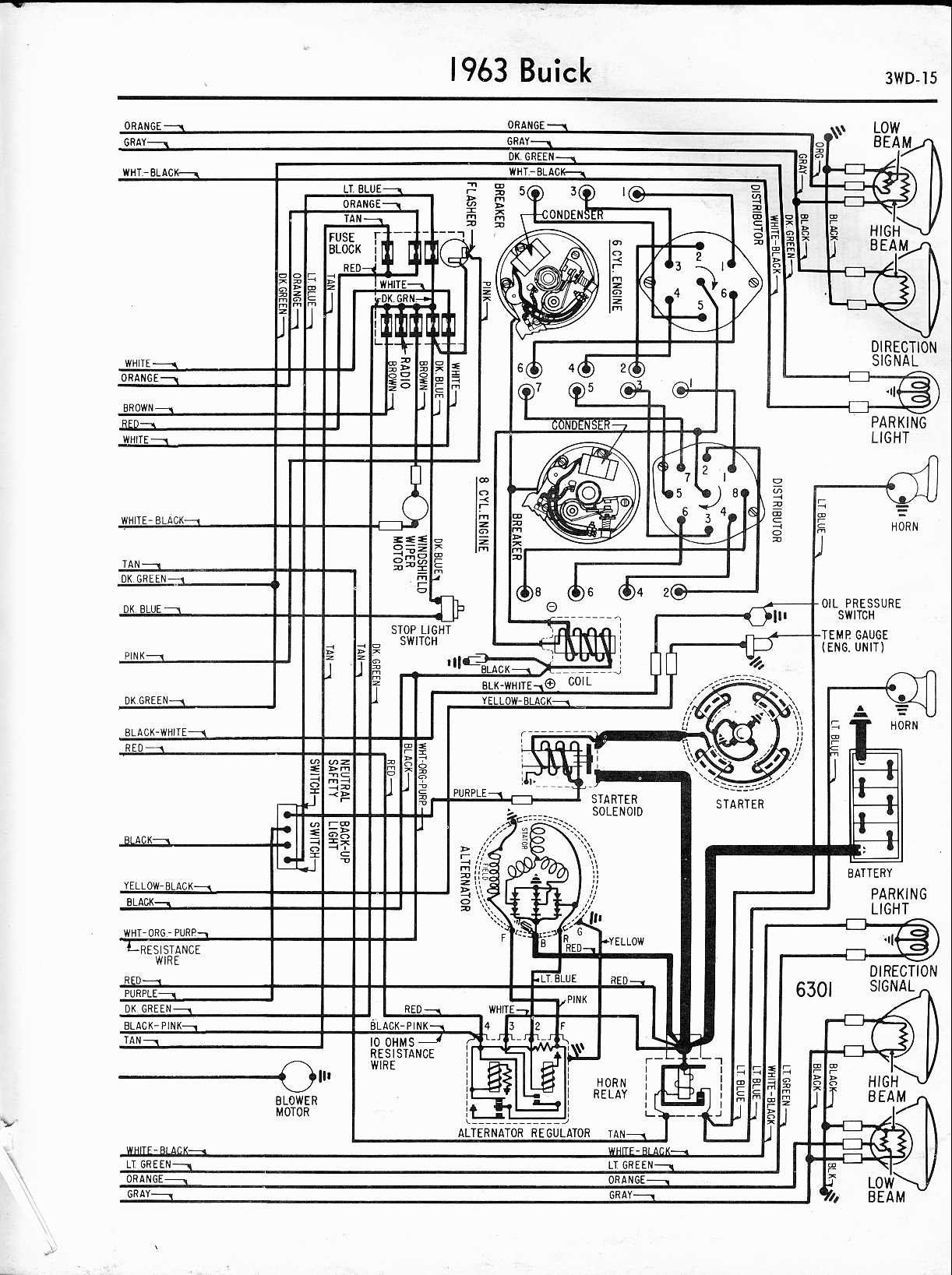hight resolution of buick wiring diagrams 1957 1965 rh oldcarmanualproject com 1963 buick riviera 1964 buick riviera