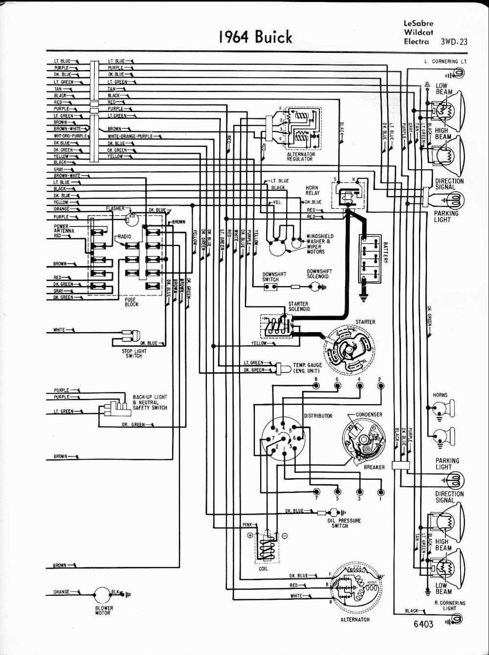 medium resolution of buick wiring diagrams 1957 1965 arctic cat 250 wiring schematic 1964 lesabre wildcat electra