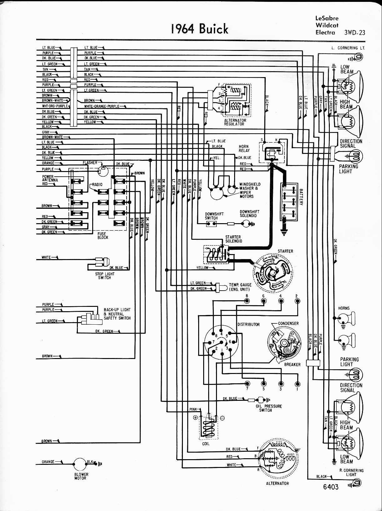 hight resolution of 1964 lesabre wildcat electra right half buick wiring diagrams