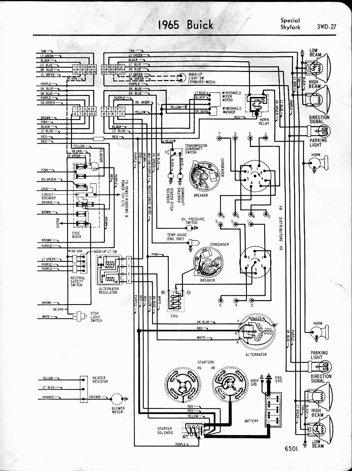 wiring diagram for 1961 buick lesabre wildcat and electra