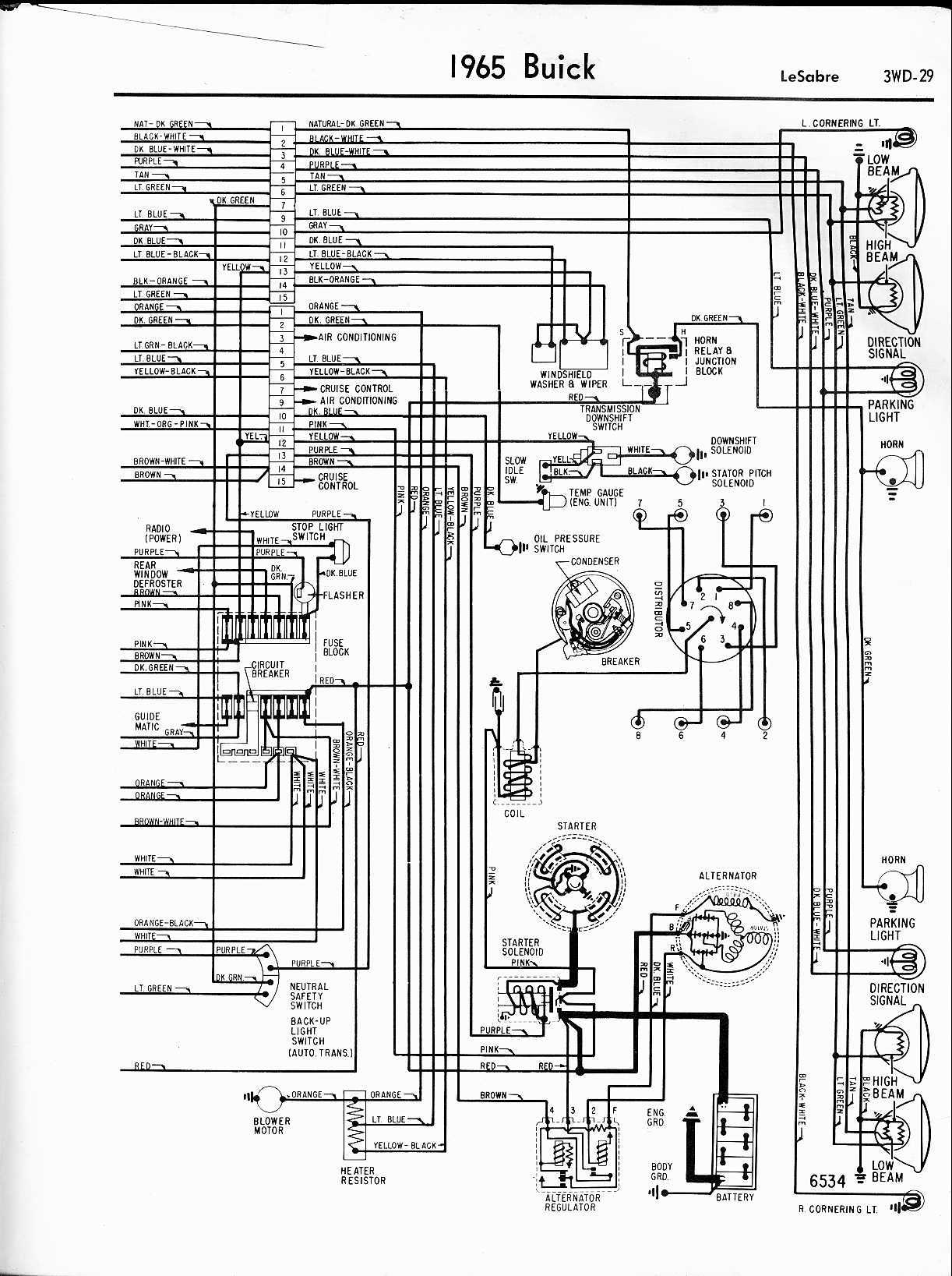hight resolution of buick wiring diagrams 1957 1965 1965 lesabre right half