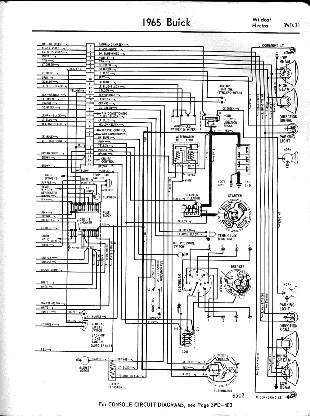 medium resolution of buick wiring diagrams 1957 1965 1965 wildcat electra left half